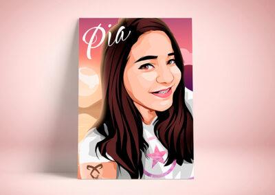 Illustrated portrait   Pia