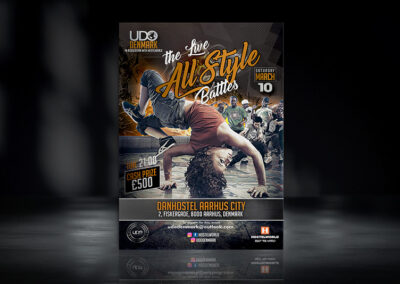 The Live all Style Battles Flyer | UDO Denmark