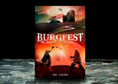 Burgfest | Minimalist Artwork