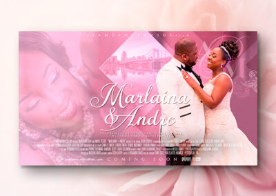 Marlaina & Andre | Wedding Poster version #2
