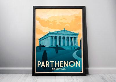 Parthenon, Nashville | Minimalist Artwork