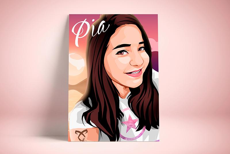 Illustrated portrait | Pia
