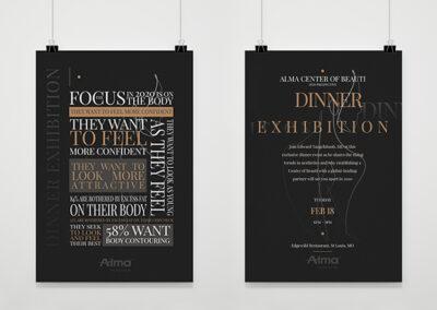 Dinner Exhibition Alma Flyer